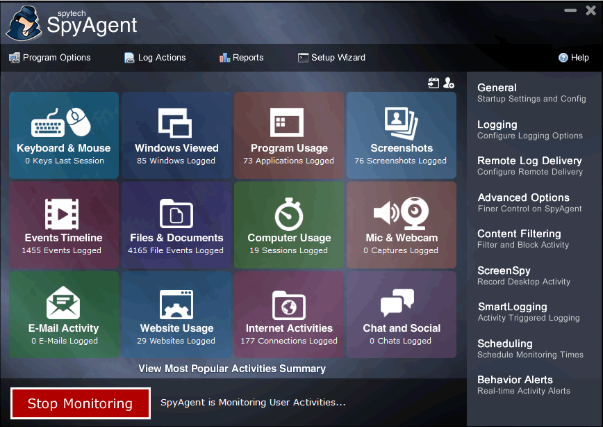 spyagent spy software